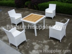 Garden PE rattan dining furniture