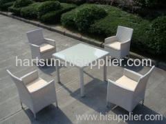 PE rattan outdoor dining set