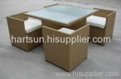 Outdoor wicker furniture dining set