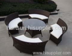 Garden PE rattan table and chairs