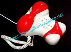Red Sexy Corded Bikini Underwear Shape Telephone
