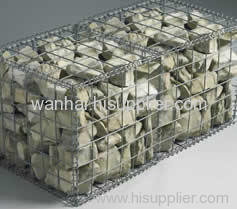 Emergency flood deployment welded gabion mat