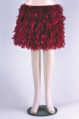 red Feather Skirt
