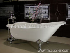 slipper back cast iron bathtub