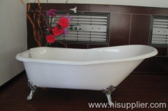 slipper calwfoot bathtub with iron feet