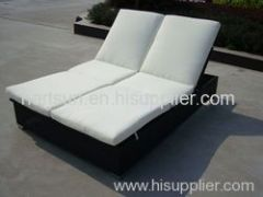outdoor rattan sun lounge