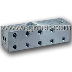 Aluminum Cetop3 Side Ported Rexroth Bar Manifold