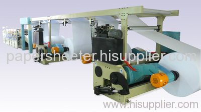 A4 A3 F4 cut-size web sheeter with packaging machine