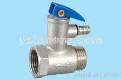nickle-plated safe valve