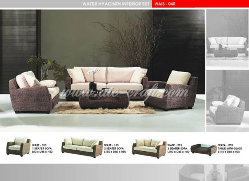 Brilliant Water Hyacinth Sofa Set Wais 040 Manufacturer From Vietnam Ncnpc Chair Design For Home Ncnpcorg