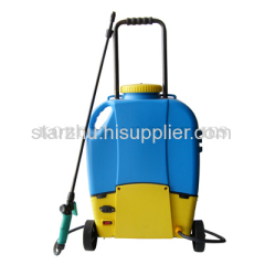 16L battery sprayer with wheels