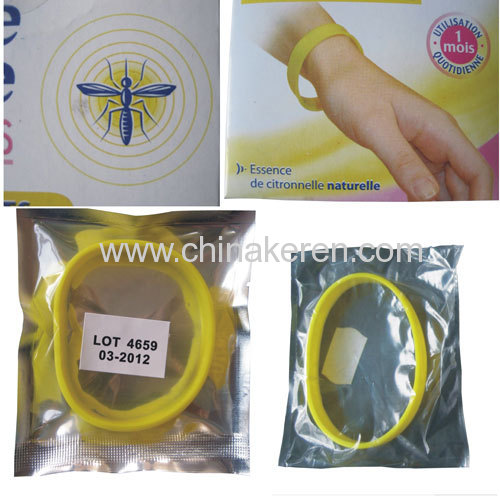 2013 Newest and Popular mosquito anti silicone bracelet