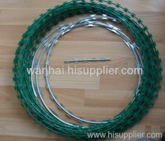 pvc coating razor wire mesh