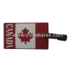 soft PVC National flag Luggage Tag