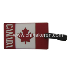 soft PVC National flag Luggage Tag