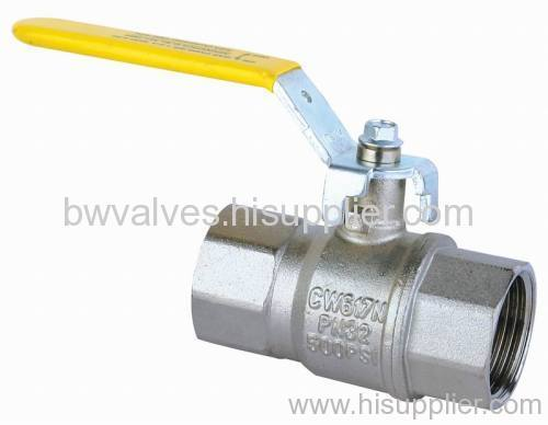 brass gas valve with steel handle