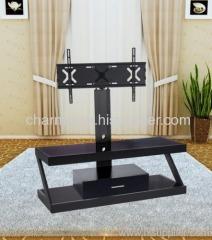 New Black Hexagonal Aluminum Tube LCD TV Stand