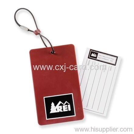 Plastic hang tag for luggage