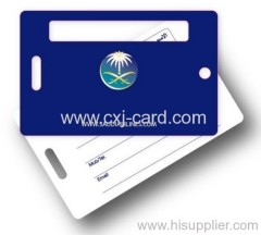 ISO&SGS plastic luggage tags