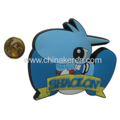 company logo soft pvc pin for promotion