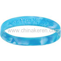 silicone Mix Color lettering Bracelet