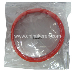 Silicone red Bracelet Packing with printed logo