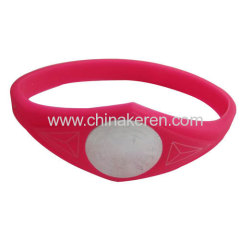 2013 power silicone bracelet in hot selling