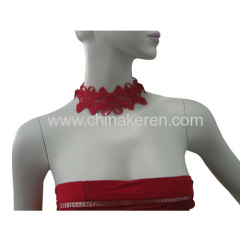 fashione soft PVC hollow Necklace