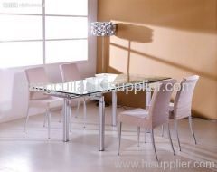 painted tempered glass dining table&chairs