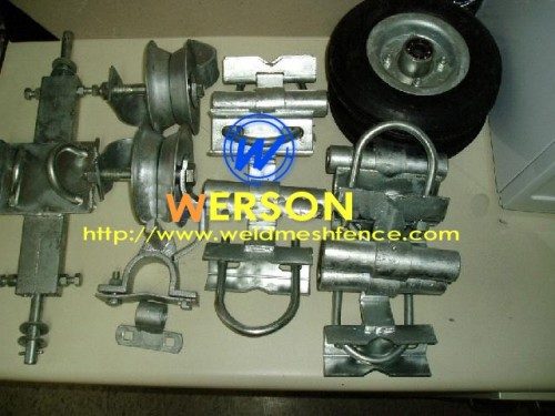Chain link fence parts from werson security fencing system