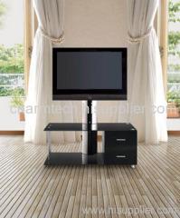 Black Glass and MDF Plasma TV Stand