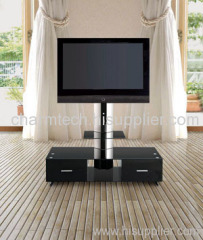 New Design Black Glass Plasma TV Stand