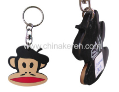 Fashion pvc key ring 3d soft pvc keychain