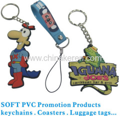 logo design soft PVC liquid Keychain