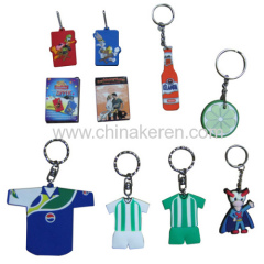 Customised Logo soft pvc keychain