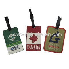 Fashion soft PVC luggage tag