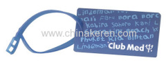 PVC blue Luggage Tag
