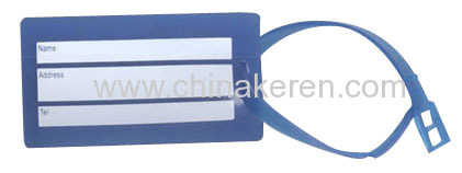 blue 3D 2D PVC Luggage Tag