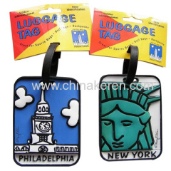 soft PVC 3D Luggage Tags