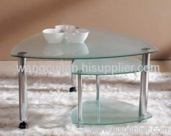 frosted tempered glass coffee table