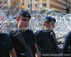 concertina wire razor barbed fence