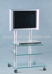 Clear Glass DVD TV Stand
