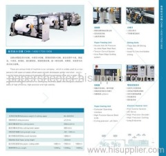 Rotary paper and board sheeter/paper sheeting machine/paper cutting machine