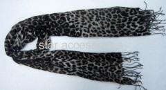 viscose leopard print scarf