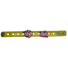 Silicone Bracelet with PVC accessories