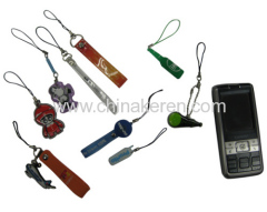 soft PVC Mobile phone Pendant