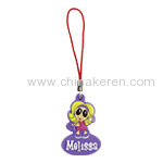 Fashion soft pvc mobile pendant