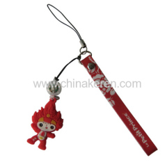 PVC Mobile phone red Pendant