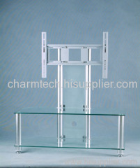 Clear Glass LCD Plasma TV Stands