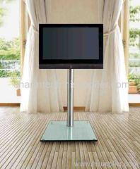 Clear Glass LCD Plasma Stand